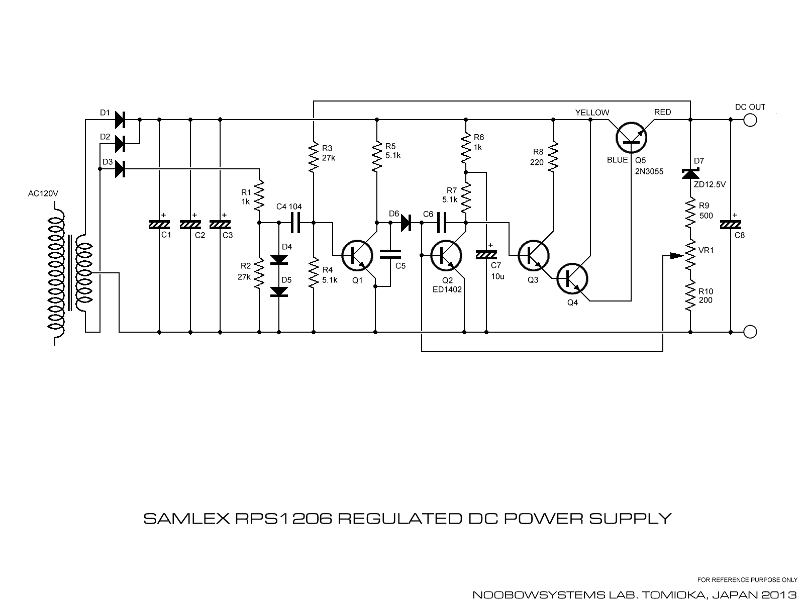 samlex rps1206 regulated dc power supply   back to life