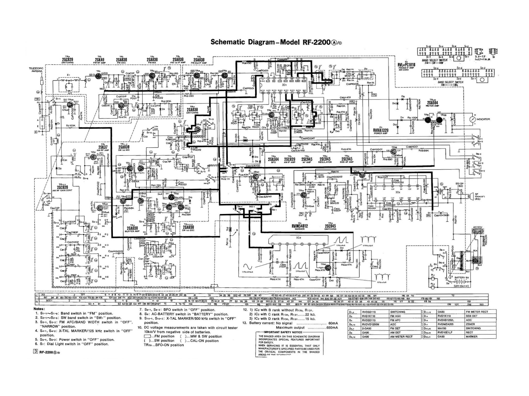 panasonic rf-2200: restoration projects: noobowsystems lab. prs se custom 24 wiring schematic #12